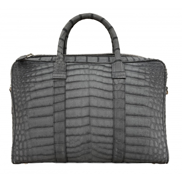 Vittorio Martire - Business Bag in Real Alligator Leather - Italian Handmade Bag - Luxury High Quality Leather