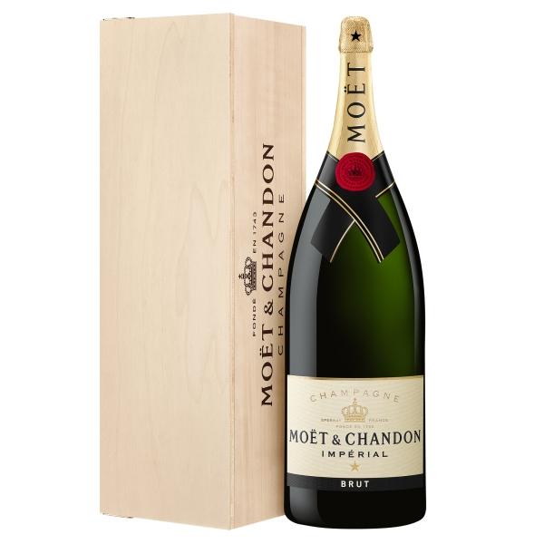 Moët & Chandon Champagne - Moët Impérial - Brut - Nabuchodonosor - Cassa Legno - Pinot Noir - Luxury Limited Edition - 15 l