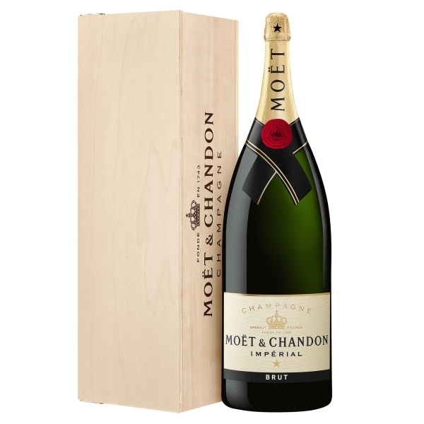 Moët & Chandon Champagne - Moët Impérial - Brut - Nabuchodonosor - Wood Box - Pinot Noir - Luxury Limited Edition - 15 l