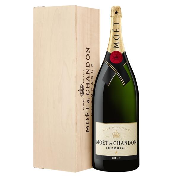 Moët & Chandon Champagne - Moët Impérial - Brut - Balthazar - Cassa Legno - Pinot Noir - Luxury Limited Edition - 12 l