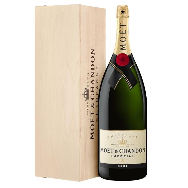 Moët & Chandon Champagne - Moët Impérial - Brut - Salmanazar - Cassa Legno - Pinot Noir - Luxury Limited Edition - 9 l