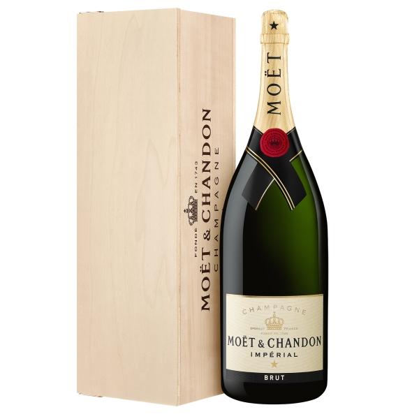 Moët & Chandon Champagne - Moët Impérial - Brut - Mathusalem - Wood Box - Pinot Noir - Luxury Limited Edition - 6 l