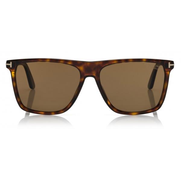 Tom Ford - Fletcher Sunglasses - Occhiali da Sole Quadrati - Havana Sfumato - FT0832 - Occhiali da Sole - Tom Ford Eyewear