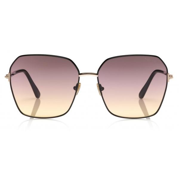 Tom Ford - Fletcher Sunglasses - Occhiali da Sole Quadrati - Havana - FT0832 - Occhiali da Sole - Tom Ford Eyewear