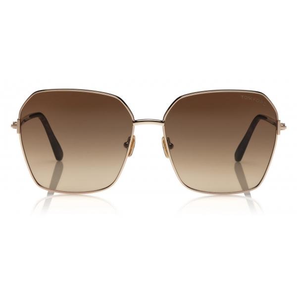 Tom Ford - Claudia Sunglasses - Occhiali da Sole Quadrati - Nero - FT0839 - Occhiali da Sole - Tom Ford Eyewear
