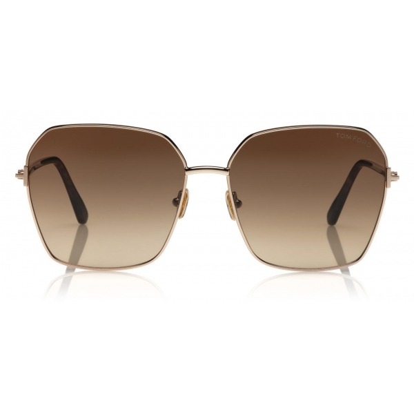 Tom Ford - Claudia Sunglasses - Square Sunglasses - Black - FT0839 - Sunglasses - Tom Ford Eyewear