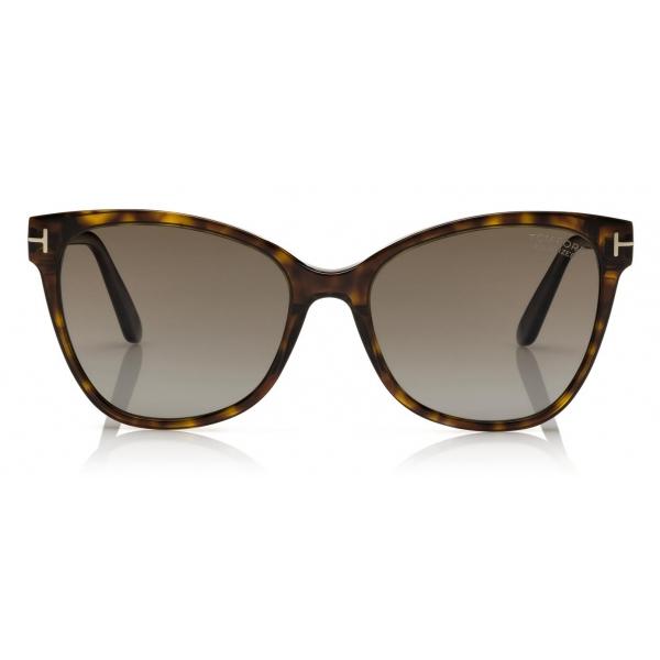 Tom Ford - Claudia Sunglasses - Occhiali da Sole Quadrati - Havana Scuro - FT0839 - Occhiali da Sole - Tom Ford Eyewear