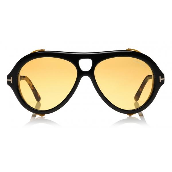 Tom Ford - Neughman Sunglasses - Occhiali da Sole Rotondi - Nero - FT0882 - Occhiali da Sole - Tom Ford Eyewear