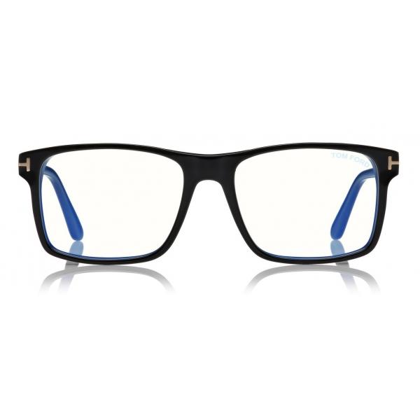 Tom Ford - Blue Block Magnetic Glasses - Occhiali da Vista Rettangolare - Nero - FT5682-B - Occhiali da Vista - Tom Ford Eyewear