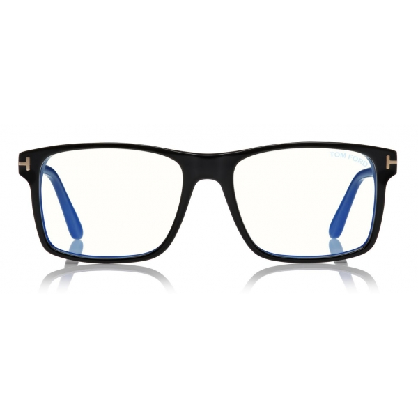 Tom Ford - Blue Block Magnetic Glasses - Rectangular Optical Glasses - Black - FT5682-B - Optical Glasses - Tom Ford Eyewear