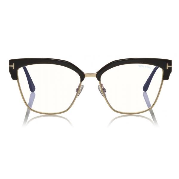 Tom Ford - Blue Block Magnetic Glasses - Occhiali da Vista Rettangolare - Havana - FT5682-B - Tom Ford Eyewear