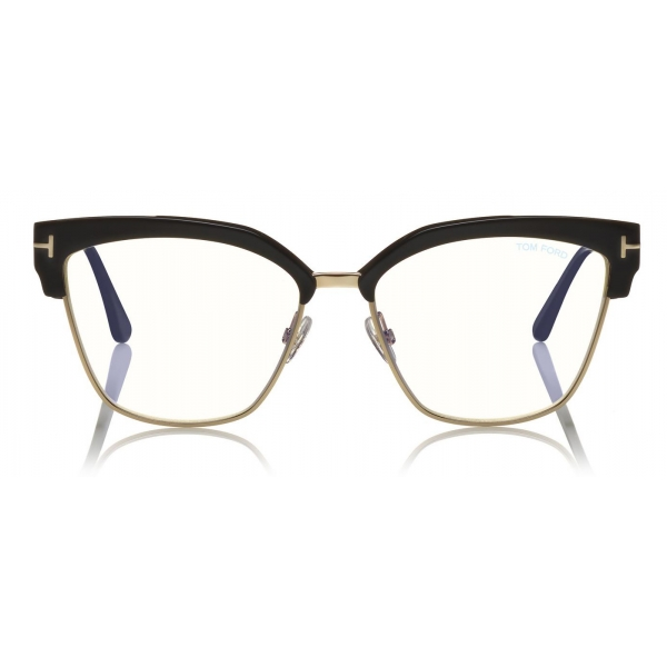 Tom Ford - Blue Block Magnetic Glasses - Rectangular Optical Glasses - Havana - FT5682-B - Tom Ford Eyewear