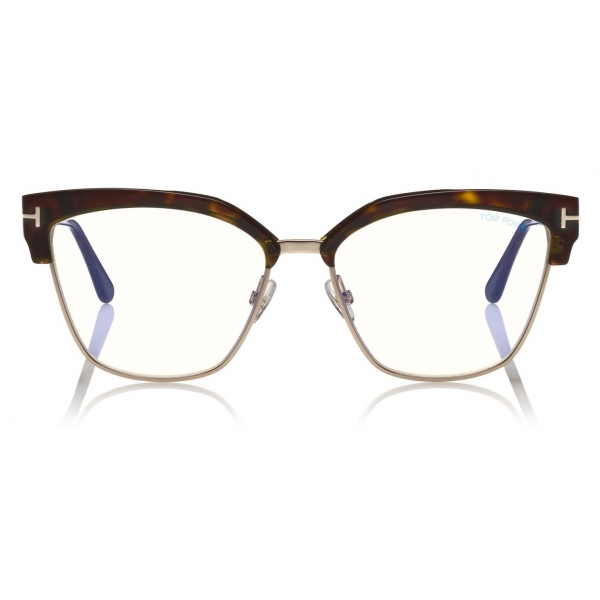 Tom Ford - Blue Block Magnetic Glasses - Rectangular Optical Glasses - Black - FT5682-B - Tom Ford Eyewear
