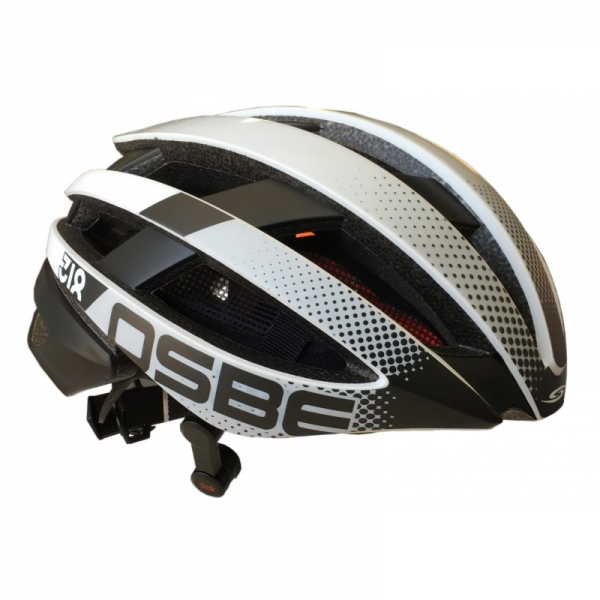 Osbe Italy - Light 318 + IBTHFC - Wireless Bluetooth - Matt White Gr. Black - Bicycle Helmet - High Quality - Made in Italy
