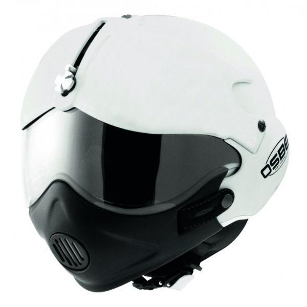 Osbe Italy - Tornado M.P.S. - Shiny White - Motorcycle Helmet - Covid-19 - High Quality - Made in Italy