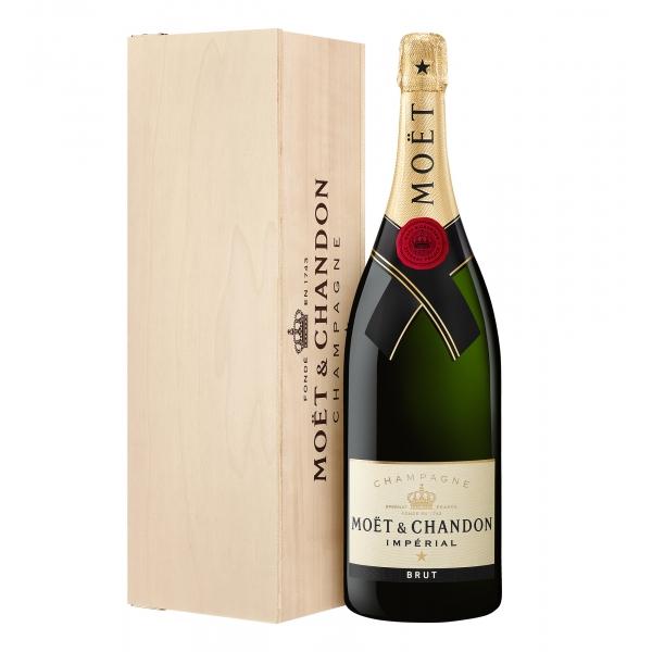 Moët & Chandon Champagne - Moët Impérial - Brut - Jéroboam - Cassa Legno - Pinot Noir - Luxury Limited Edition - 3 l