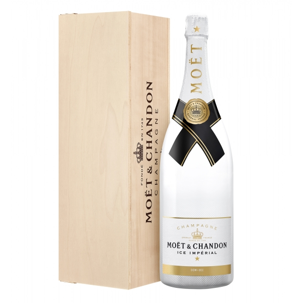 Moët & Chandon Champagne - Ice Impérial - Jéroboam - Wood Box - Pinot Noir - Luxury Limited Edition - 3 l
