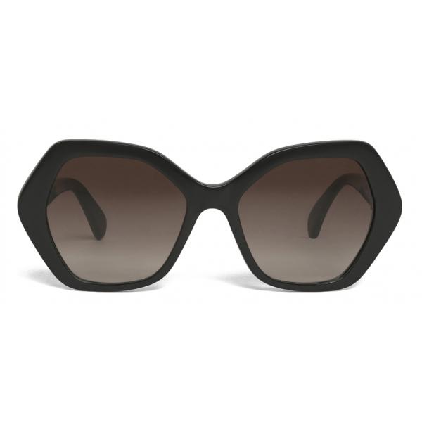 Céline - Maillon Triomphe 03 Sunglasses in Acetate - Black - Sunglasses - Céline Eyewear