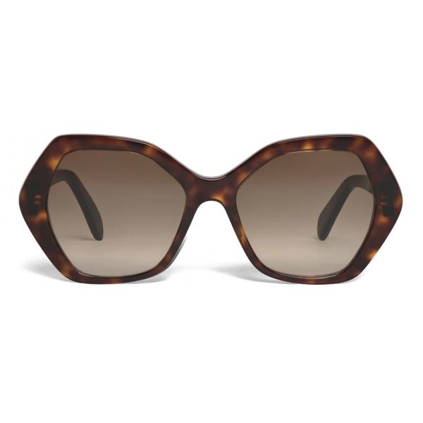 Céline - Maillon Triomphe 03 Sunglasses in Acetate - Red Havana - Sunglasses - Céline Eyewear