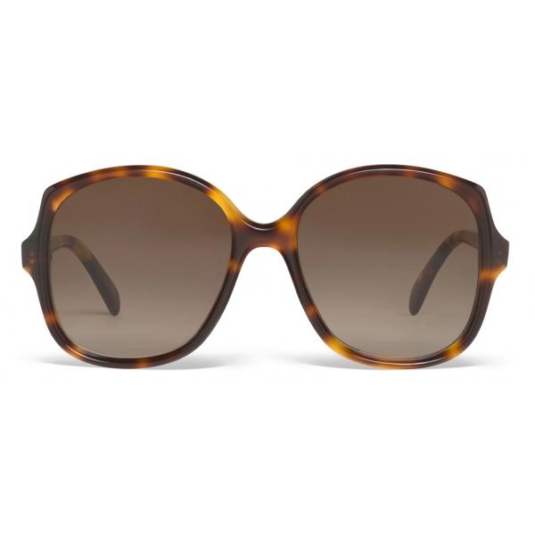 Céline - Square S172 Sunglasses in Acetate - Red Havana - Sunglasses - Céline Eyewear