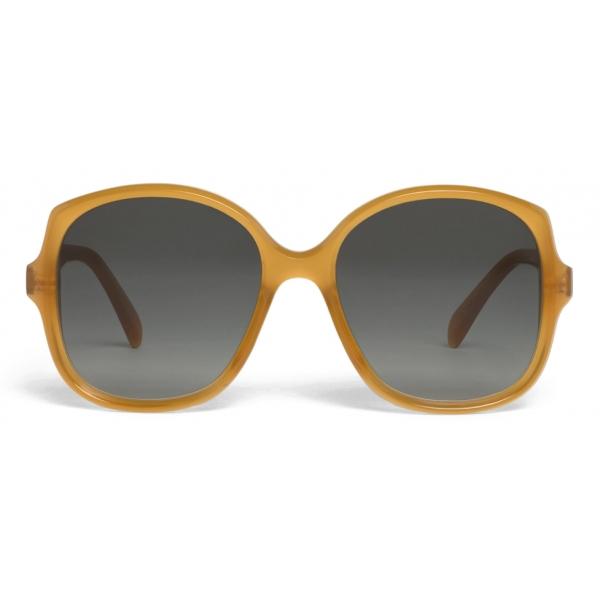 Céline - Square S172 Sunglasses in Acetate - Milky Honey - Sunglasses - Céline Eyewear