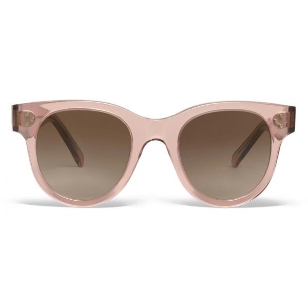 Céline - Round S182 Sunglasses in Acetate - Transparent Rose - Sunglasses - Céline Eyewear