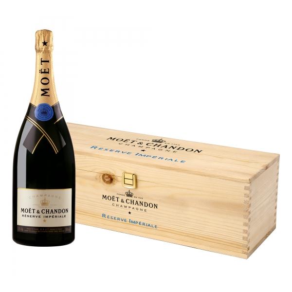Moët & Chandon Champagne - Réserve Impériale - Magnum - Wood Box - Pinot Noir - Luxury Limited Edition - 1,5 l