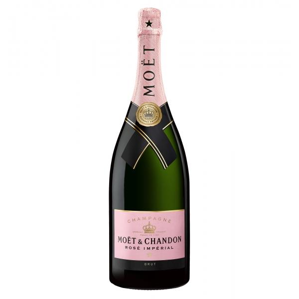 Moët & Chandon Champagne - Rosé Impérial - Cassa Legno - Pinot Noir - Luxury Limited Edition - 1,5 l