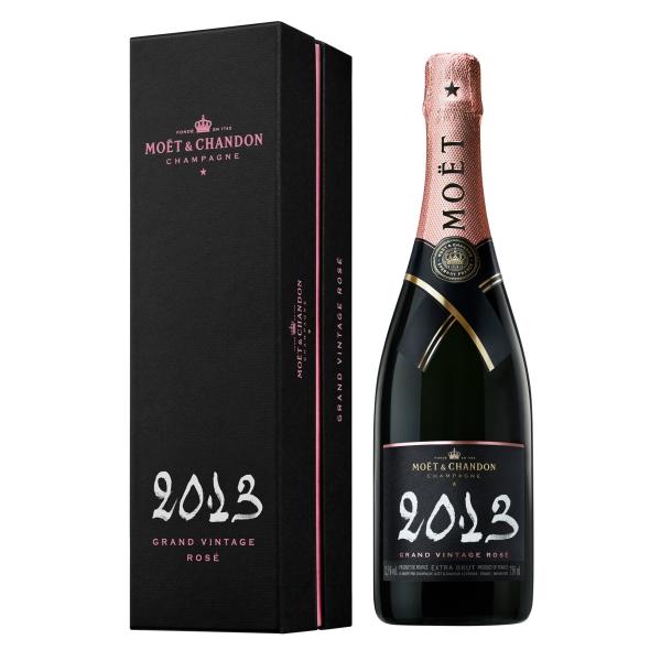 Moët & Chandon Champagne - Grand Vintage Rosé 2013 - Coffret Box - Pinot Noir - Luxury Limited Edition - 750 ml