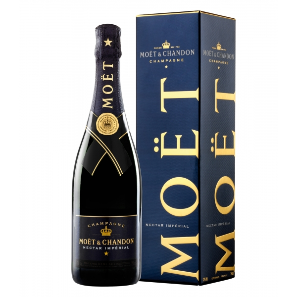Moët & Chandon Champagne - Nectar Impérial - Box - Pinot Noir - Luxury Limited Edition - 750 ml