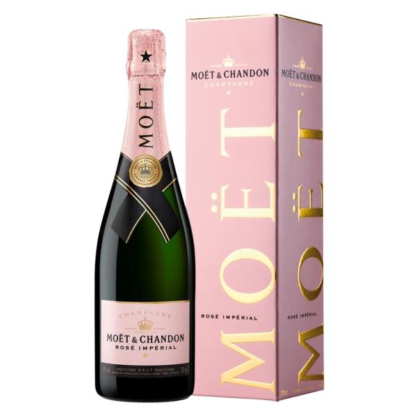 Moët & Chandon Champagne - Rosé Impérial - Box - Pinot Noir - Luxury Limited Edition - 750 ml