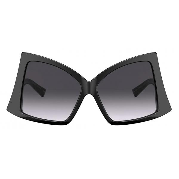 Valentino - Occhiale da Sole Butterfly in Acetato con Roman Stud - Fucsia Marrone Sfumato - Valentino Eyewear