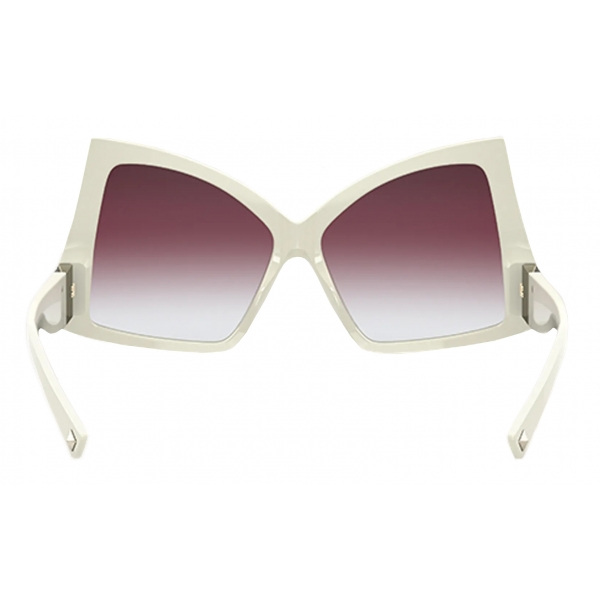 Valentino - Butterfly Sunglasses in Acetate with Roman Stud - Black - Valentino Eyewear