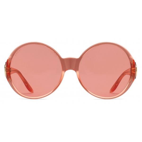Gucci - Occhiale da Sole Ovali - Oro Grigio - Gucci Eyewear