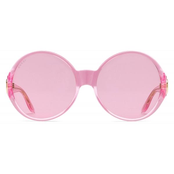 Gucci - Occhiali da Sole Rotondi - Rosa Pastello - Gucci Eyewear
