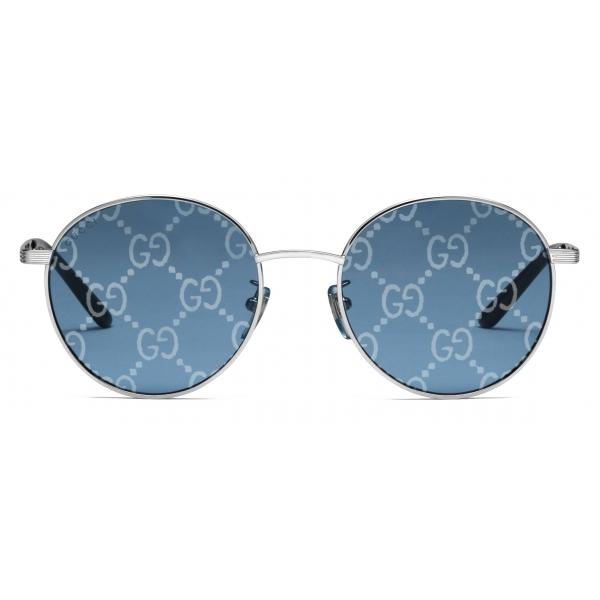 Gucci - Occhiali da Sole Rotondi - Celeste - Gucci Eyewear