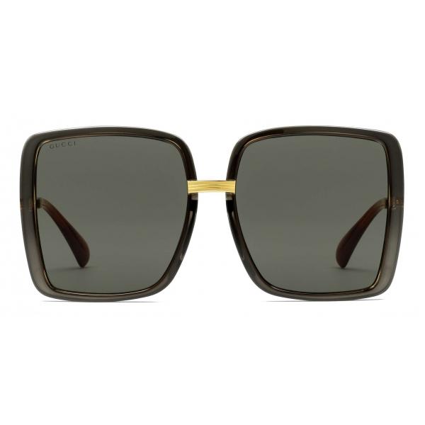 Gucci - Occhiali da Sole Aviator con Lenti GG - Argento Celeste - Gucci Eyewear