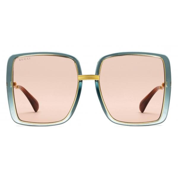 Gucci - Occhiali da Sole Quadrati - Grigio Oro - Gucci Eyewear