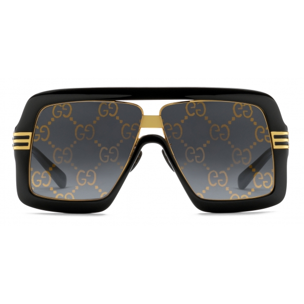 Gucci - Occhiali da Sole Quadrati - Celeste Oro - Gucci Eyewear