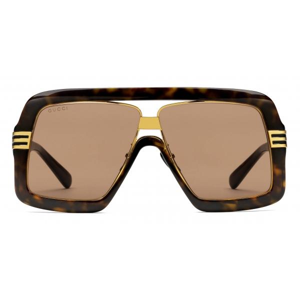 Gucci - Occhiali da Sole Quadrati con Lenti GG - Nero Grigio - Gucci Eyewear