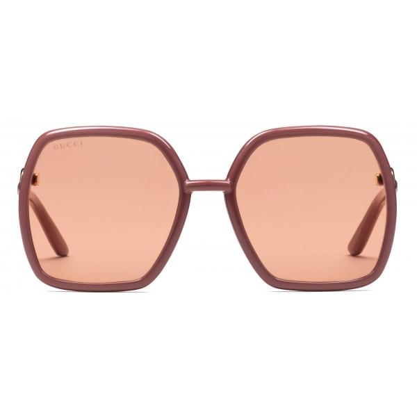Gucci - Occhiali da Sole Quadrati - Nero Giallo - Gucci Eyewear
