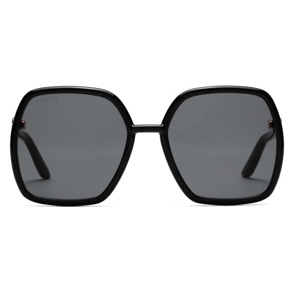 Gucci - Occhiali da Sole Quadrati - Rosa Scuro Arancione - Gucci Eyewear
