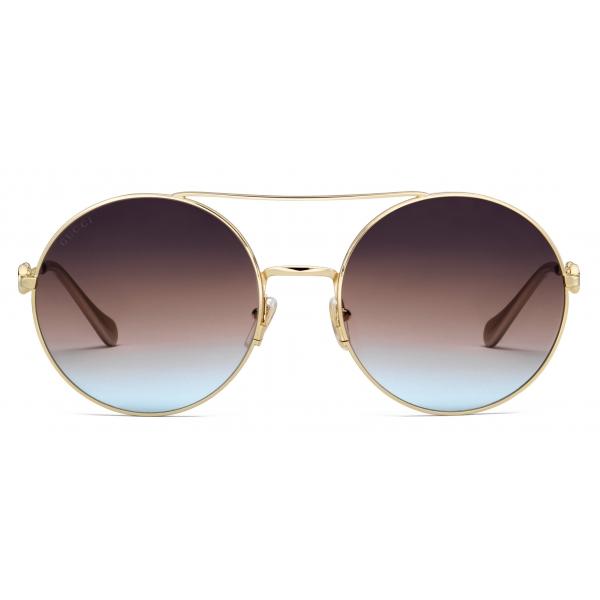 Gucci - Occhiali da Sole Quadrati - Oro Multicolore - Gucci Eyewear