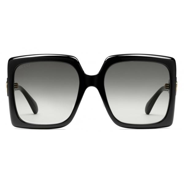 Gucci - Occhiali da Sole Quadrati - Tartaruga Marrone - Gucci Eyewear