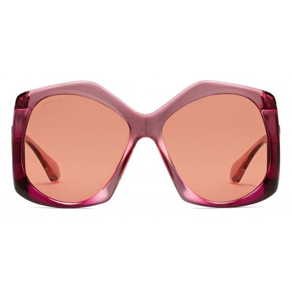 Gucci - Occhiali da Sole Quadrati - Nero Grigio - Gucci Eyewear