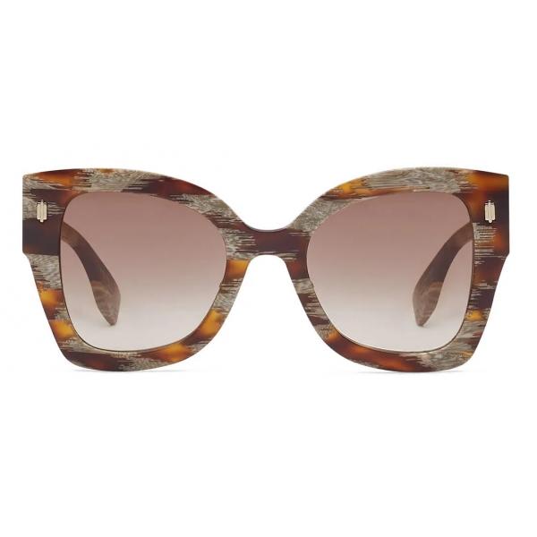 Fendi - Fendi Roma - Occhiali da Sole Squadrata - Havana Marrone - Occhiali da Sole - Fendi Eyewear
