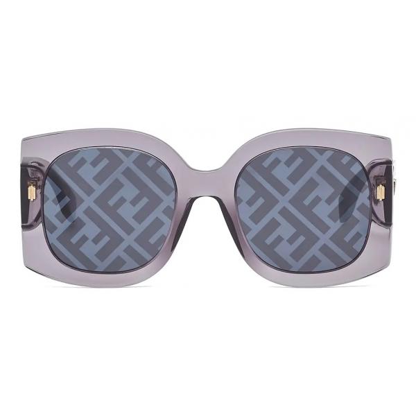 Fendi - Fendi Roma - Occhiali da Sole Squadrata Oversize - Grigio - Occhiali da Sole - Fendi Eyewear
