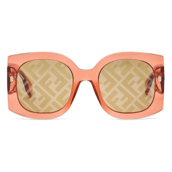 Fendi - Fendi Roma - Oversized Square Sunglasses - Gray - Sunglasses - Fendi Eyewear