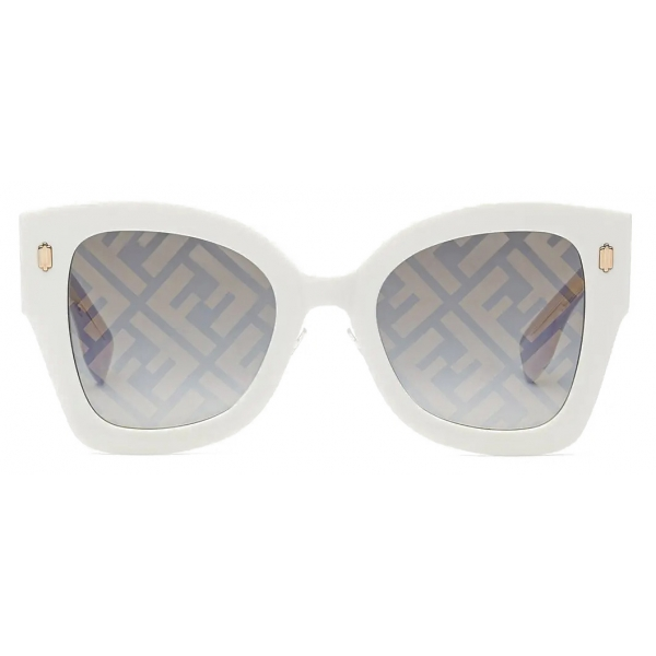 Fendi - Fendi Roma - Oversized Square Sunglasses - Orange - Sunglasses - Fendi Eyewear