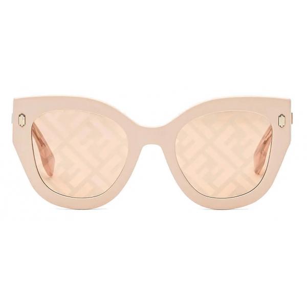 Fendi - Fendi Roma - Occhiali da Sole Cat-Eye - Oro Rosa - Occhiali da Sole - Fendi Eyewear